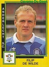 009 FILIP DE WILDE SC.ANDERLECHT BELGIQUE STICKER FOOTBALL 1991 PANINI