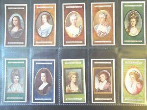 1923-MINIATURES-famous-paintings-portraits-set-25-cards-Tobacco-Cigarette