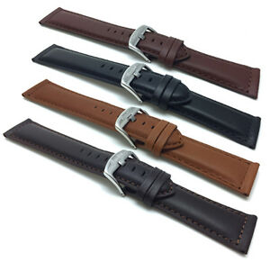 18mm-30mm-Leather-Watch-Band-Strap-Black-Tan-Brown-for-Citizen-Fossil-amp-More