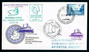 ARGENTINA-1975-Commemorative-cover-Antarctic-Tourist-Expeditions-1