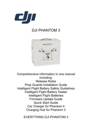 DJI PHANTOM 3 manuale di istruzioni Manuale Plus con aggiunta info in piena