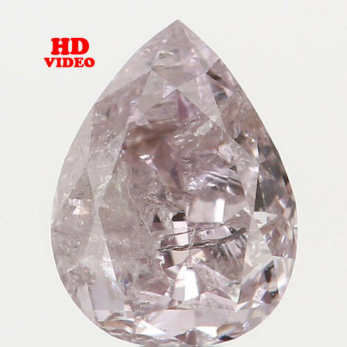0.28 Ct Natural Loose Diamond Pear Shape Pink Color 4.86X3.66X2.44 MM I2 N4825