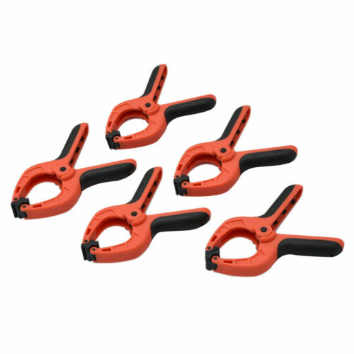 """Spring Clamp Set 5pc 3/"""" Pro Pinces Pivotant Jaw Pads Heavy Duty NEUF"""