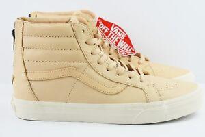 b7cda3e874 Vans SK8 Hi Reissue Zip Veggie Tan Leather Mens Size 8 Skate Shoes ...