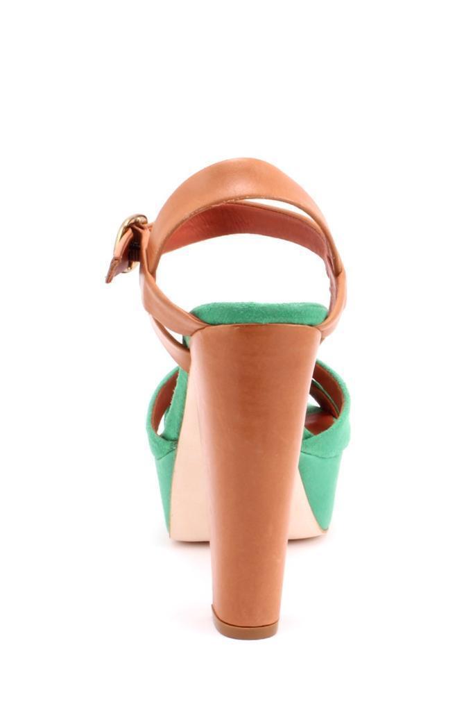 Pour La Victoire Victoire Victoire Neysa Kelly Grün Saddle braun Platform Sandal Crisscross suede 09e9ba