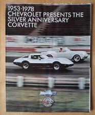 CHEVROLET Corvette 1978 25th Silver Anniversary brochure - rare