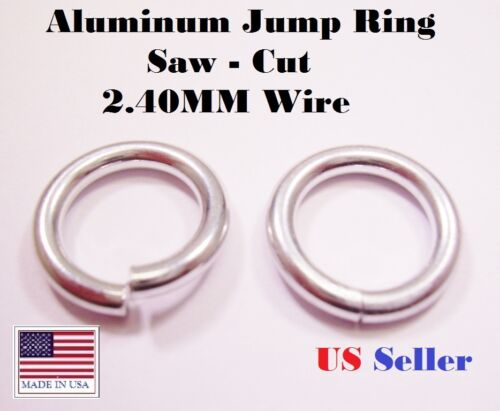 ALUMINUM JUMP RING  13 MM I//D 2.4MM WIRE  54 PCS 1 OZ  BRIGHT SAW CUT