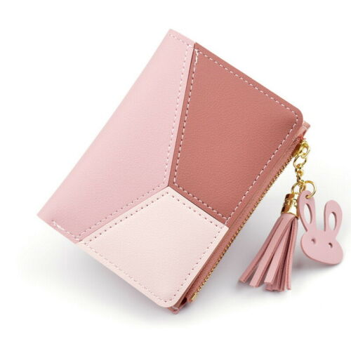 Women Girl Short Small Wallet Lady Leather Folding Coin Card Holder Money Purse