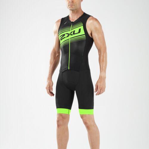 2018 2XU Men/'s Compression Full Zip Tri Suit