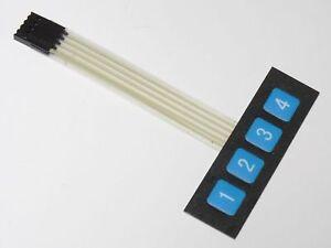 4-Tasten-Matrix-Folientastatur-Tastatur-control-panel-Keypad-Arduino-9