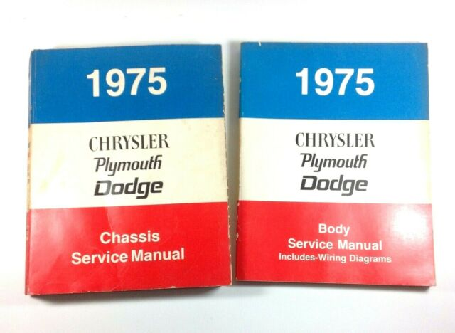1975 Chrysler Plymouth Dodge Chassis Service Manuals