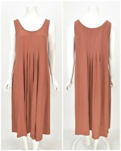 Womens-Gudrun-Sjoden-Long-Tunic-Dress-Organic-Cotton-Basic-Sleeveless-Size-L