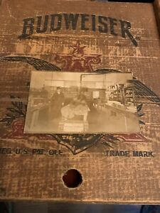 Vintage-c1910-s-Real-Photo-Postcard-Post-Card-Men-Inside-A-Dry-Goods-Store