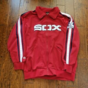 Vintage Chicago White Sox Jacket L Cooperstown by Majestic