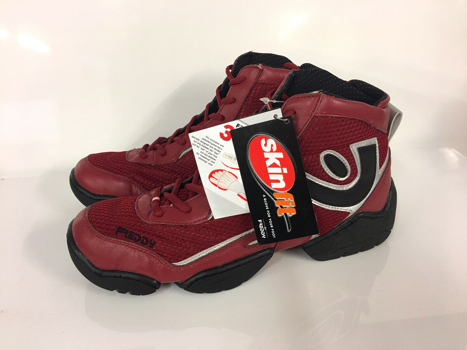 9299acb0658a0 FREDDY 3 PRO Mens 3 Piece Outer-Sole Impact Technology Mid High Red  Trainers 43