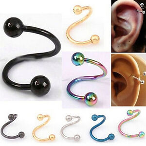 Casual-Nose-Piercing-Ring-Stainless-Steel-Twist-Nose-Lip-Body-Ear-Stud-Ring-SP