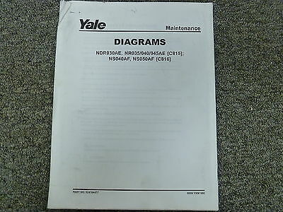 Yale C815 C816 Narrow Aisle Lift Truck Forklift Wiring ... Yale Wiring Diagram on