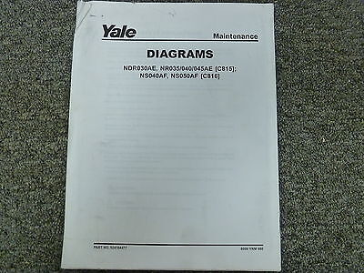 Yale C815 C816 Narrow Aisle Lift Truck Forklift Wiring ... Yale Forklift Wiring Diagram on