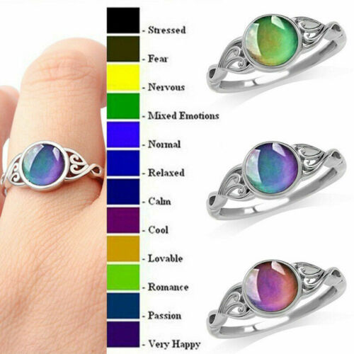 Temperature Color Changing Heart Shaped Creatived Ring For Women fashion Je F5V3