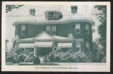 POSTCARD WINCHESTER VA/VIRGINIA TERRACE TOURIST HOME BED & BREAKFAST 1930'S