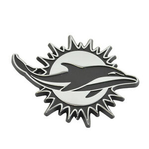 New-NFL-Miami-Dolphins-Auto-Car-Truck-Heavy-Duty-Real-Chrome-Metal-Emblem