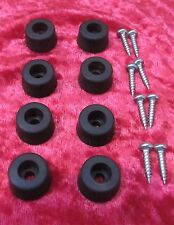 8 x Small Tapering Rubber Feet complete with 8 x Screws. Size: 19mm x 10mm.