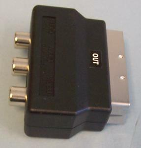 Audio Video Adapters & Splitters - ADAPTOR SCART PLUG TO 3 PHONO RCPT