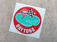 Gulf Daytona racing circuit sticker 75 mm  - Gulf Licensed Merchandise