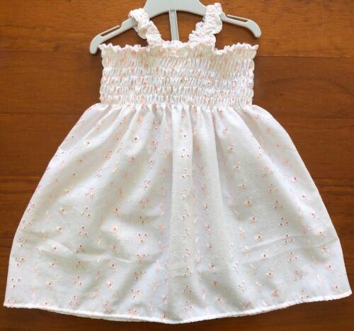 SZ 1 $10 CLEARANCE SALE COTTON SHIRRED TOP DRESS HANDMADE IN AUSTRALIA
