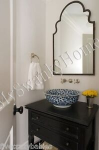 Gorgeous Extra Large 41 Quot Shaped Arch Wall Mirror Curved Mantle Vanity Horchow Ebay