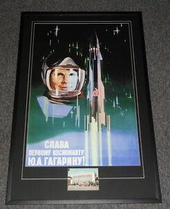 Yuri-Gagarin-Signed-Framed-27x41-Poster-Display-JSA