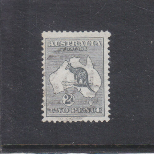 AUSTRALIA19132d GREY KANGAROODIE 11st WMBARRED CANCEL 304FINE USED
