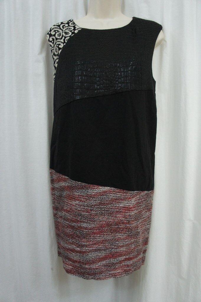 Rachel Roy Dress Sz 8 schwarz Multi Combo Mixed-Media Career Cocktail Dress