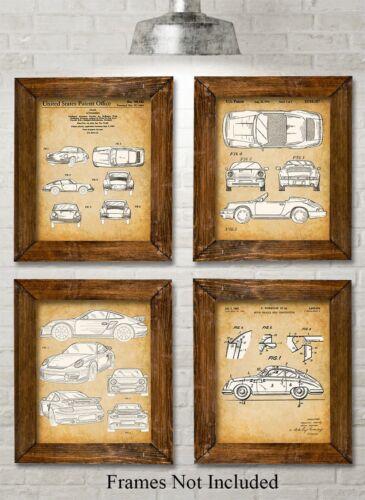 Unframed Original Porsche Patent Prints 8x10 Set of Four Photos Great Gift