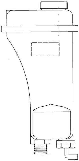 Behr Hella Service 376888411 Radiator Tank for BMW