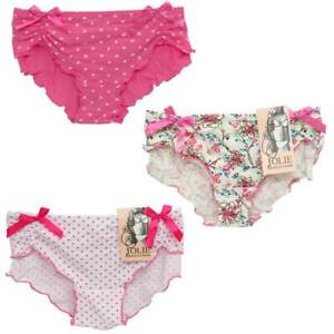 PINK-FLORAL-POLKA-DOT-KNICKER-PANTS-LADIES-FULL-BRIEFS-WOMENS-PANTIES-SIZES-8-16