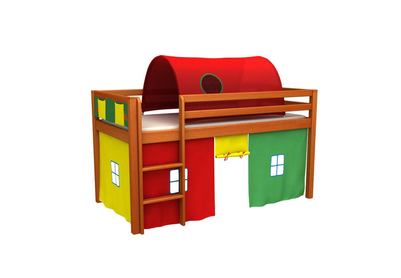 Letto per bambini,letto a castello,letto con tunel,tenda,materass,molti Couleuri