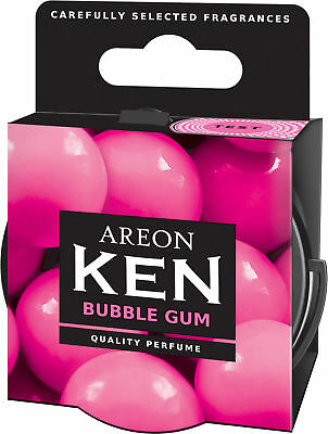 2x Originale Areon Ken Auto Albero Profumato Deodoranti Coperchio Set Bubblegum Alleviare Il Calore E La Sete.