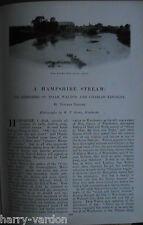 Charles Kingsley Izaak Walton Itchen Fishing Angling Old Edwardian Article 1901