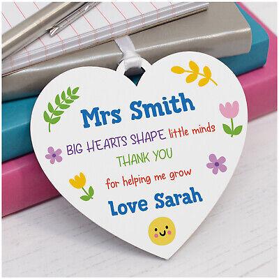Personalised Wooden Plaque Teacher Pre School Nursery  Gift Present Thank You