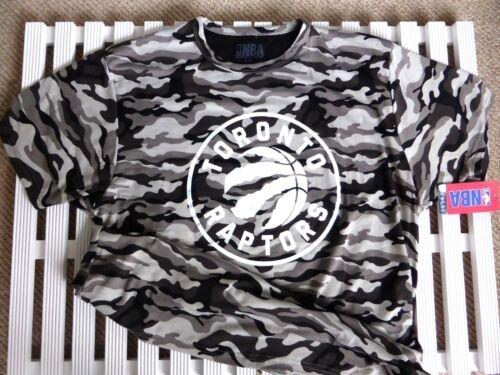 Grand officiel Toronto Raptors Camouflage Basket NBA Foncé T Shirt Canada Nouveau
