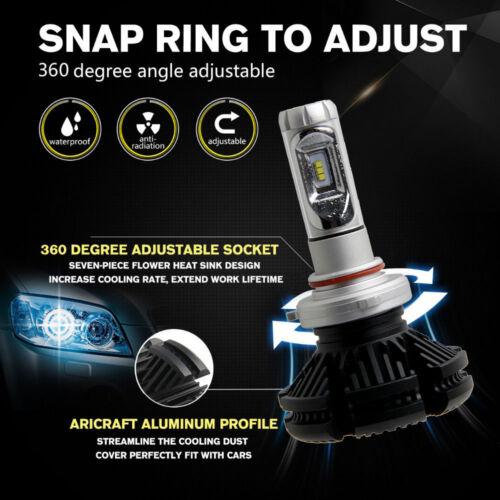 2X Turbo COB H7 X3 100W 12000LM Canbus LED Lamp Headlight Kit Bulbs 6500K White
