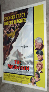 1950-59 Hospitable Mountain Climbing Orig 1956 One Sheet Movie Poster Spencer Tracy/robert Wagner Superior Performance
