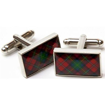 Tartan Clan Davidson Engraved Gold-Tone Money Clip