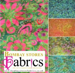 100/% algodón Acolchado tela artesanal Pack X 5. Cuarto gordo Batik paquetes