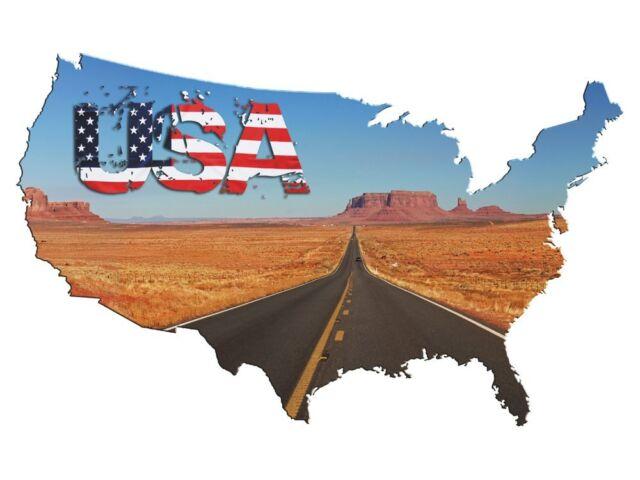 Wandsticker Sticker Aufkleber für Wohnzimmer USA Amerika Route Flagge Canyon