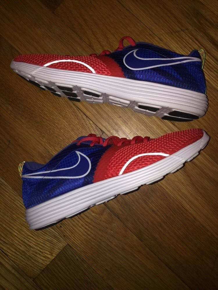 Nike Lunar Montreal Red/Blue Women Comfortable The most popular shoes for men and women