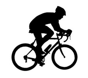 Sport Silhouette Cycling Bicyclist Car Tablet Vinyl