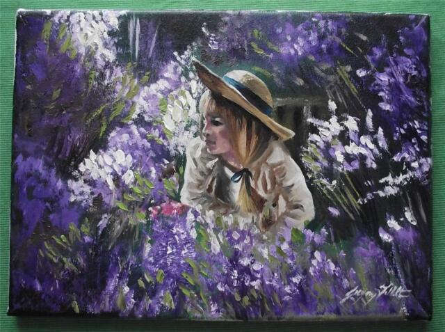 Original Painting Oil on Canvas Portrait  by GREGORY TILLETT : The Lavender Girl