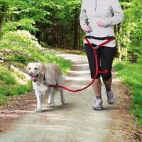 Dog Jogging Lead Red For Medium Large Dogs 12766